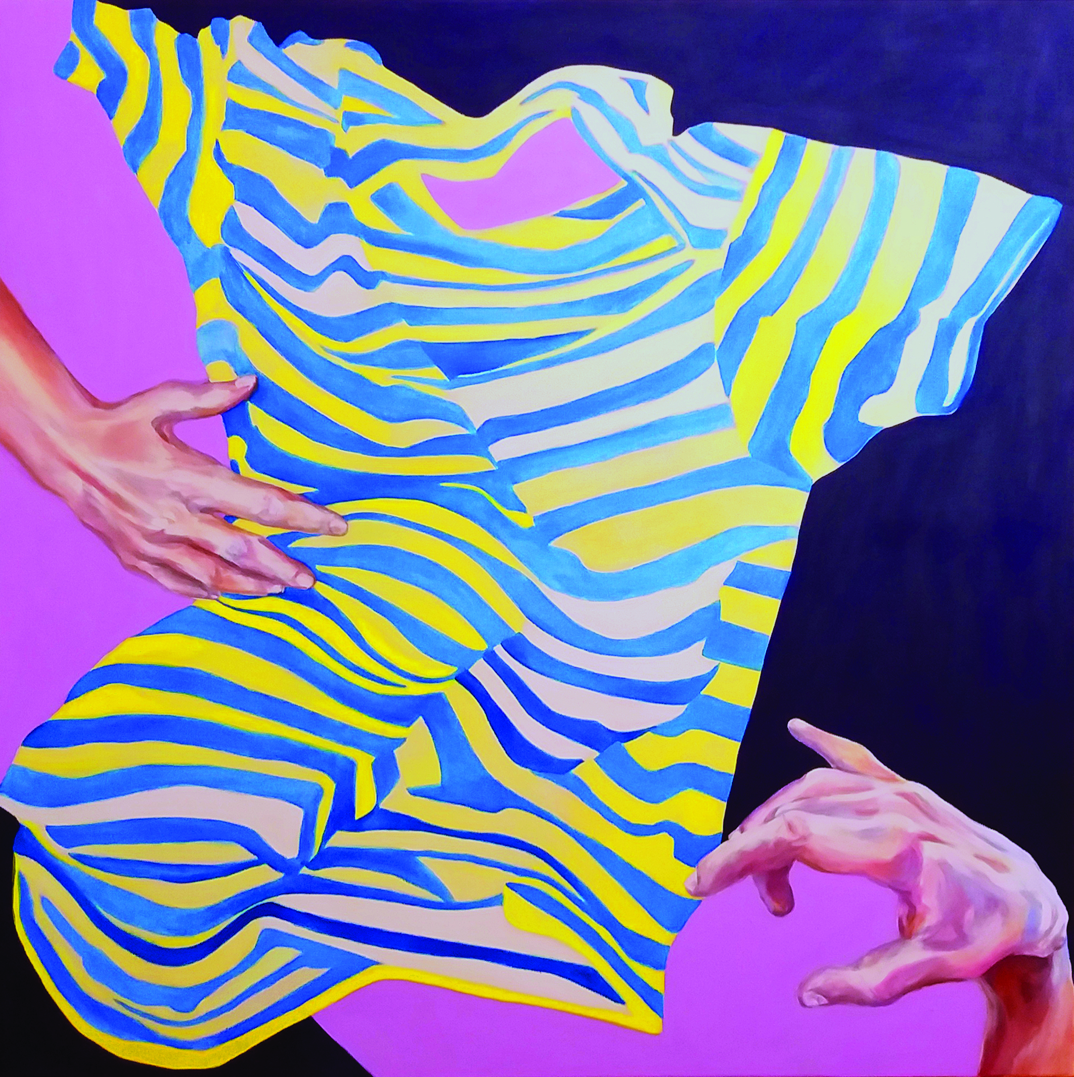 Joanna Róg-Ociepka, Connection, 120x120 cm,ol